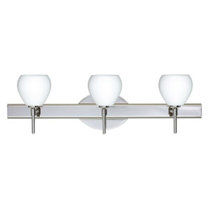 Tay Tay Chrome Three-Light Bath Fixture with Opal Matte Glass