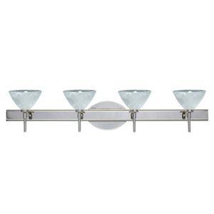 Domi Chrome Four-Light Bath Fixture with Marble Glass