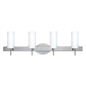 Copa Chrome Four-Light Bath Fixture with Opal Matte Glass