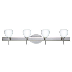 Tay Tay Chrome Four-Light Bath Fixture with Opal Matte Glass