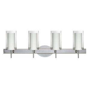 Pahu 4 Chrome Four-Light LED Bath Vanity with Clear Glass
