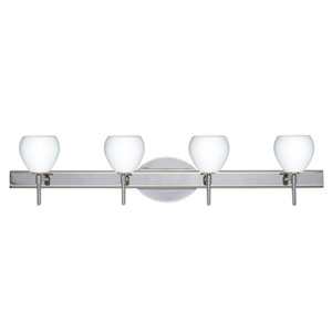 Tay Tay Chrome Four-Light LED Bath Vanity with Opal Matte Glass