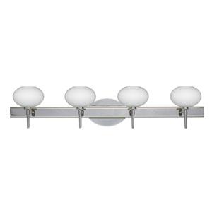 Lasso Chrome Four-Light LED Bath Vanity with Opal Matte Glass