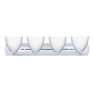 Sasha Chrome Four-Light Bath Fixture with Opal Matte Glass