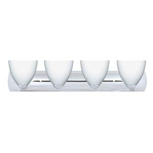 Sasha II Chrome Four-Light LED Bath Vanity with Opal Matte Glass