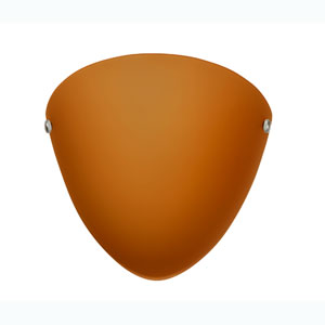 Kailee Satin Nickel One-Light Sconce with Amber Matte Glass