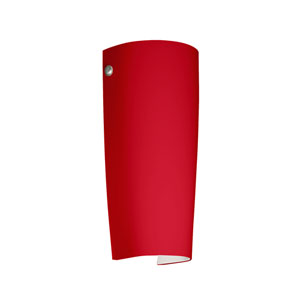 Tomas Satin Nickel One-Light LED Bath Sconce with Ruby Matte Glass