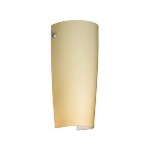Tomas Satin Nickel One-Light LED Bath Sconce with Vanilla Matte Glass