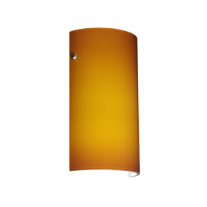 Tamburo 7 Satin Nickel One-Light LED Bath Sconce with Amber Matte Glass