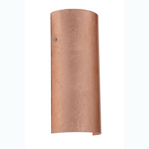 Torre Copper Foil Satin Nickel Sconce