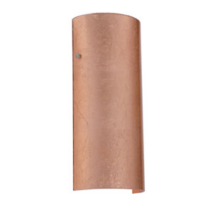 Torre 14 Satin Nickel One-Light LED Bath Sconce with Copper Foil Glass