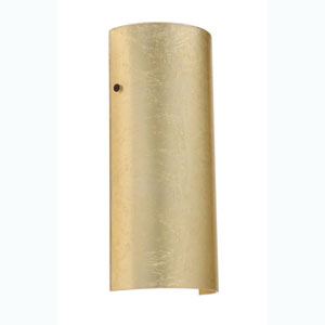 Torre Gold Foil Bronze Sconce