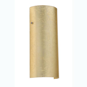 Torre Gold Foil Satin Nickel Sconce