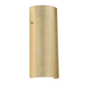 Torre 14 Satin Nickel One-Light LED Bath Sconce with Gold Foil Glass