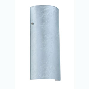 Torre Silver Foil Satin Nickel Sconce