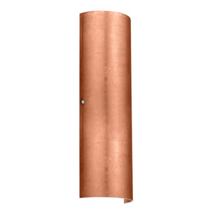 Torre 22 Satin Nickel Two-Light LED Bath Sconce with Copper Foil Glass