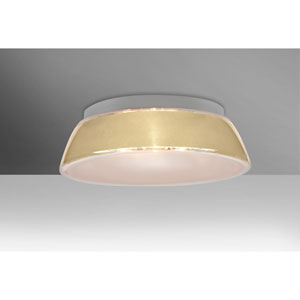 Pica 17 Creme Sand Two-Light Flush Mount