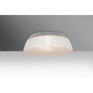 Pica 14 White Sand One-Light LED Flush Mount