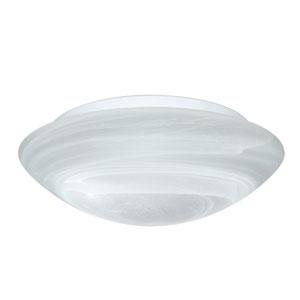 Nico Aluminum Three-Light Incandescent 120v Flush Mount with Marble Glass