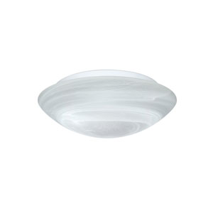 Nico Aluminum One-Light Incandescent 120v Flush Mount with Marble Glass
