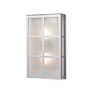 Bree 16 Brushed Aluminum Two-Light LED Outdoor Wall Sconce with Glitter Glass