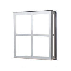 Bree 11 Brushed Aluminum One-Light LED Outdoor Wall Sconce with Satin White Glass