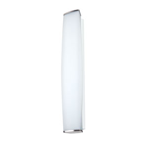 Miranda Satin Nickel Three-Light Incandescent Wall Sconce with Satin White Glass