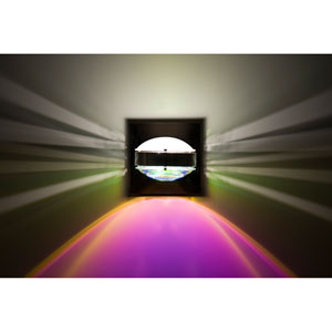 Optos Chrome One-Light LED Wall Sconce with Frost and Cool Dicro Lenses