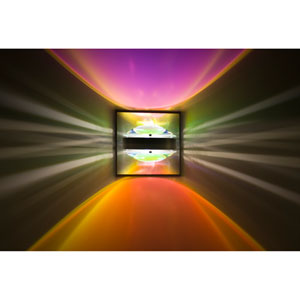 Optos Brushed Aluminum One-Light LED Wall Sconce with Cool and Warm Dicro Lenses