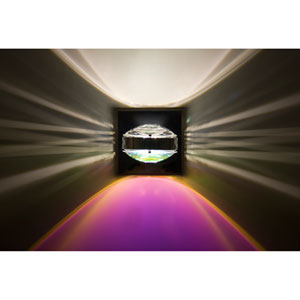 Optos Chrome One-Light LED Wall Sconce with Clear and Cool Dicro Lenses