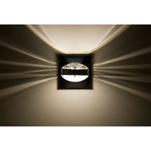 Optos Chrome One-Light LED Wall Sconce with Clear and Frost Lenses