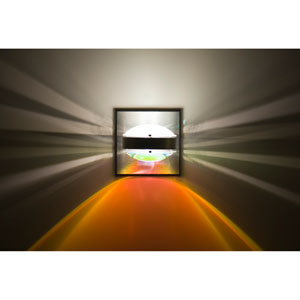 Optos Brushed Aluminum One-Light LED Wall Sconce with Frost and Warm Dicro Lenses