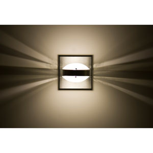 Optos Brushed Aluminum One-Light LED Wall Sconce with Frost Lenses