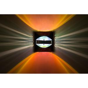 Optos Chrome One-Light LED Wall Sconce with Warm Dicro Glass