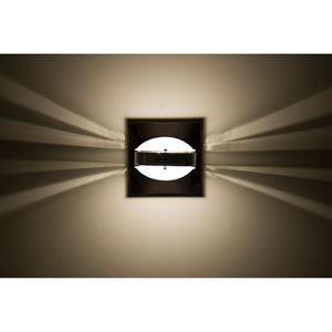 Optos Chrome One-Light LED Wall Sconce with Frost Lenses