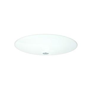 Renfro Aluminum Two-Light Halogen 120v Flush Mount with Opal Glossy Glass