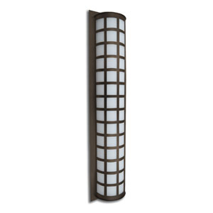 Scala 40 Bronze Three-Light Incandescent Wall Sconce with White Acrylic Shade