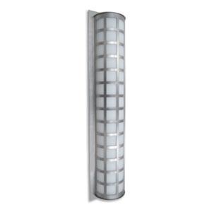 Scala 40 Brushed Aluminum Three-Light LED Outdoor Wall Sconce with White Acrylic Glass