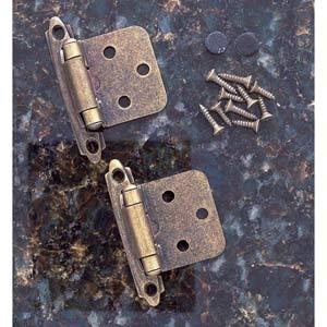 Pair of Antique Brass Flush Self-Closing Hinges