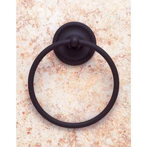 Roped Oil Rubbed Bronze Towel Ring