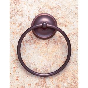 Plain Old World Bronze Towel Ring
