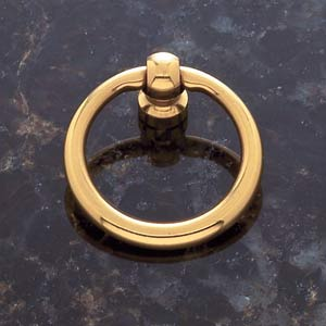 Solid Brass 1 1/2-Inch Diameter Ring Pull