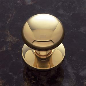 Solid Brass 1 1/4-Inch Plymouth Knob with Back Plate