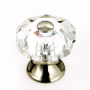 Pure Elegance Polished Nickel Finish 1 1/8-Inch Octogon Faceted w/Cap