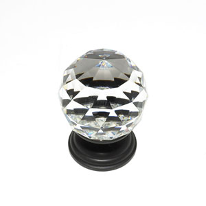 Pure Elegance Oil Rubbed Bronze Finish 2-Inch Faceted Ball