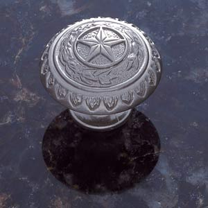 Pewter 1 3/8-Inch Texas Star Knob