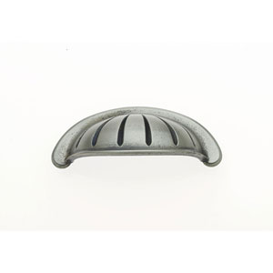 Bedrock Aged Nickel Finish 3 -Inch Center to Center Scalloped Cup Pull