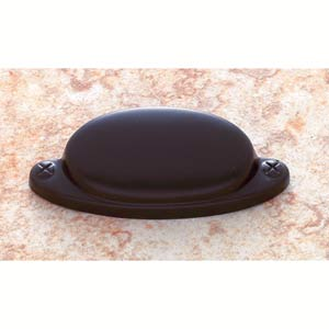 Oil Rubbed Bronze 2 1/2-Inch Smooth Cup Pull