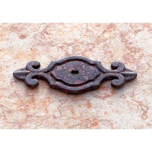 Rust 3-Inch Deco Back Plate for Knob