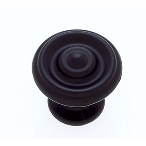Vintage Collecton Oil Rubbed Bronze Finish 1 1/4-Inch Alloy Rippled Knob